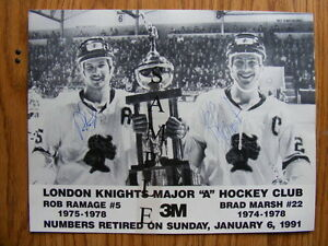 "FS: OHL London Knights Rob Ramage/Brad Marsh ""Autographed"" Comme"