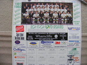 FS: London Knights OHL 1991-92 Calendar Sheet (with Jason Alliso London Ontario image 1