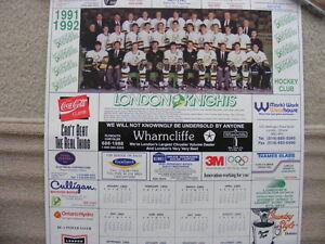 FS: London Knights OHL 1991-92 Calendar Sheet (with Jason Alliso London Ontario image 1