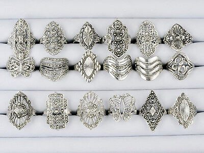 Wholesale lots 100 Pcs Mix style Elegant Alloy Rings on Rummage