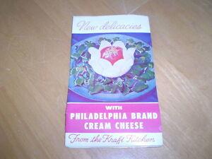 VINTAGE PHILADELPHIA CREAM CHEESE ADVERTISING BOOKLET Windsor Region Ontario image 1