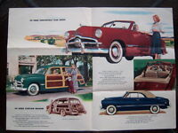 1949 Ford introductory advertising folder
