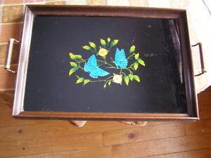 Beautiful Vintage  Mahogany Serving Tray