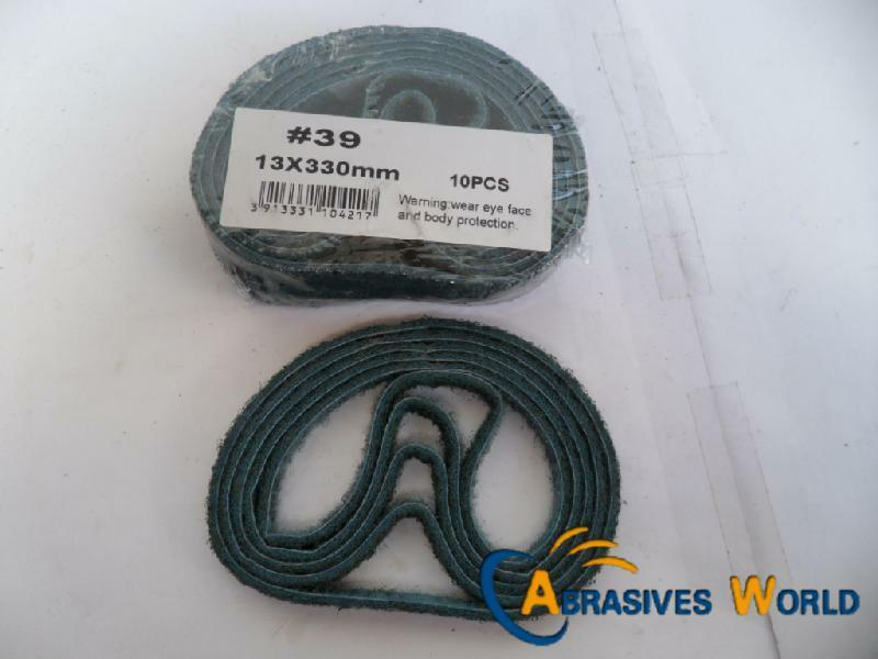 10pcs 330mm X 13mm Non Woven Sanding Belts For All Metals
