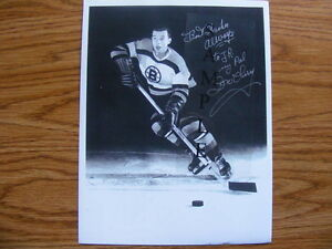 FS: Don Cherry (Boston Bruins) 1954-55 Black & White Autographed