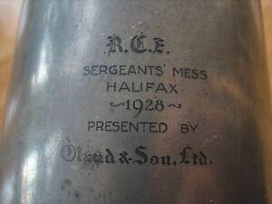 1928 Halifax Military Construction Engineer's Olands Pewter Mug