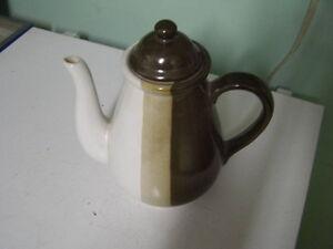 Brown Stipe Coffeepot