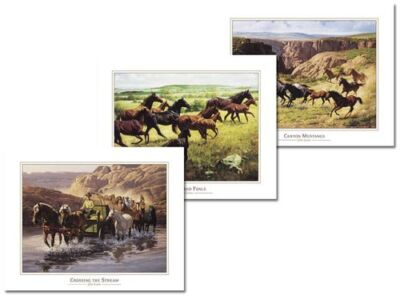 3 Rustic Western Art Prints Cowboy Posters Wall Decor on Rummage