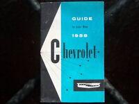 1958 Chevrolet glove box owner's manual