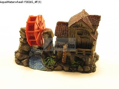(f) Small Resin 4 Waterwheel House Bubble Decoration/ornament Ship From Usa