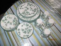 Ensemble de vaisselles couleur vert