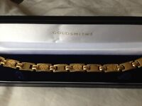 VERSACE GOLD PLATED BRACELET AND RING FOR MEN 100% AUTHENTIC