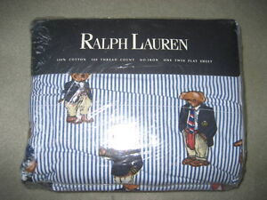 BRAND NEW - RALPH LAUREN TEDDY BEAR TWIN SHEET SET