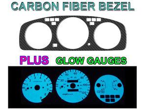 92-95-HONDA-CIVIC-MANUAL-TACH-CARBON-FIBER-BEZEL-BLUE-GREEN-GLOW-GAUGE-FACE-SET