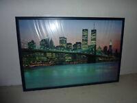 """Bild """"New York - Skyline"""" mit Rahmen Nordrhein-Westfalen - Bedburg Vorschau"""