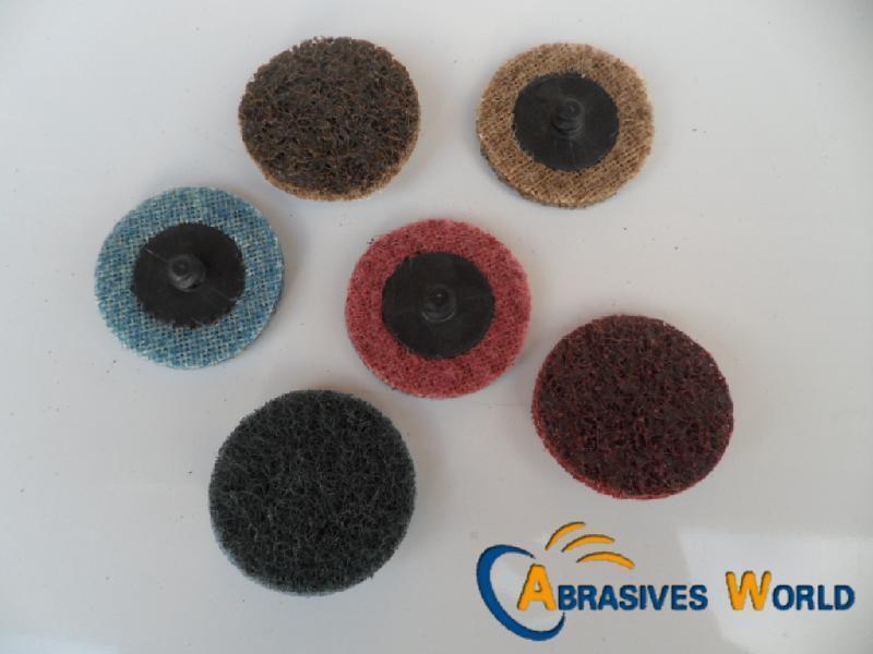 10 Of 50mm Roloc Abrasives Sanding Scotch Brite Quick