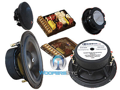 Super 2.2 Cdt Audio 6.5 2-ohm Sub-bass Component Speakers System on sale