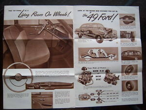 1949 Ford introductory advertising folder London Ontario image 5