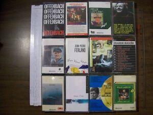 Français? 50- cassettes 4 piste audio+1 coffret  double en bois