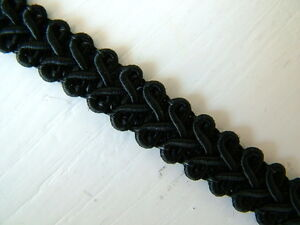 Braid Gimp Trim 11mm wide 1 metre upholstery - choice of 14 colours
