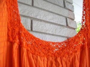 VINTAGE ORANGE GAUZE DRESS - SIZE 16+