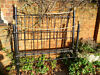 "Bed Posts - 4ft 6inch Edwardian 2"" post dip rail bedstead in distressed black finish circa 1910 Victoria Park, London"