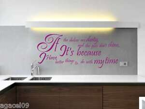 KITCHEN ART WALL QUOTE VINYL DECOR STCKER DECAL STENCIL