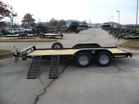 2014 CAR HAULER, SMALL EQUIPMENT TRAILER, 18 FT, 7000 lb