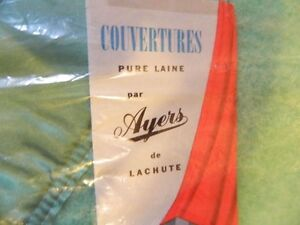ANTIQUE ayers 100% wool vintage blanket never used Cornwall Ontario image 2