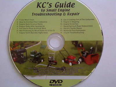 Dvd Small Engine Troubleshooting And Repair  Free Shipping In The U S