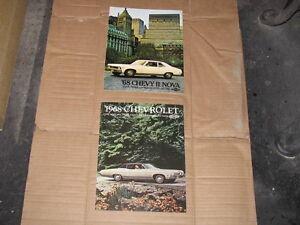 1968 Chevrolet Nova and 1968 Chevrolet Full Size Dealer Brochure