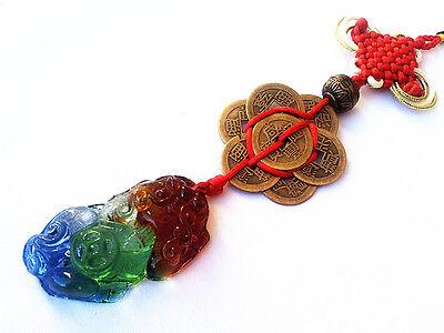 Feng Shui  Liuli Pi Yao (Pi Xiu) Charm Tassle Amulet  Hanging