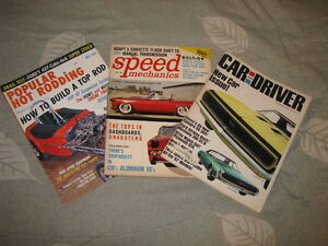 Automotive magazines from the 1950's 1960's 1970's
