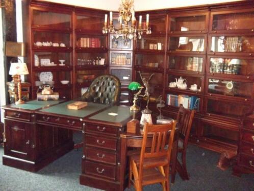 Mahonie boekenkast bibliotheekkast notariskast kantoor for Marktplaats meubels