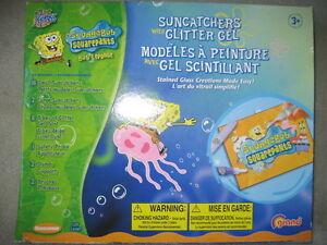BRAND NEW - SPONGEBOB SUNCATCHERS (With Glitter Gel)