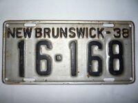 1938 N.B. License Plate