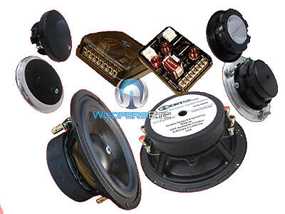 Super 3.2 Cdt Audio 6.5 2-ohm Sub-bass 3-way Component Speakers System on sale