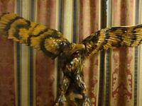 WOODEN HAND CARVED EAGLE