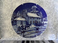 Signed Collector plate Christmas 1982 by Roger Witmer