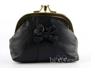 New Soft Leather Ladies Clasp Purse Coin Purse Traditional Handy Size Gift