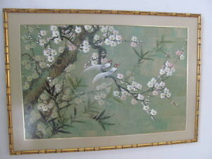 Peinture Chinoise sur liège / Chinese cork painting