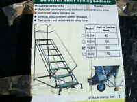 Warehouse ladders ..4,,step... ROLLING LADDER