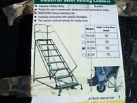 Warehouse ladders ..4,,step....9 step.. ROLLING LADDERS