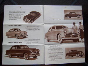 1949 Ford introductory advertising folder London Ontario image 4