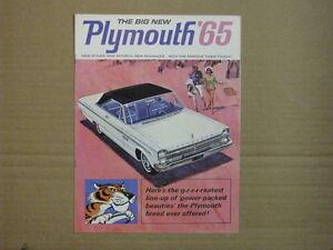 1965 PLYMOUTH Car Dealer Brochure.