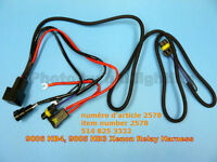 HID 9006 9005 HB4 HB3 relay harness wiring wire cable with 25A
