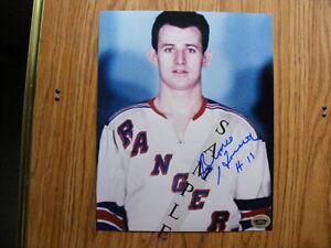 FS Bronco Horvath (New York Rangers) 8x10 Autographed Photo
