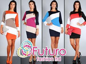 NEW-Womens-Trendy-Elegance-Shift-Dress-Pencil-Style-Multicolor-Size-8-14-FA44