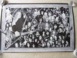 "FS: ""A History Of Heavy Metal"" Litho Sheet"