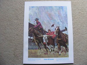 """FS: 1972 """"Calgary Stampede"""" The Prudential Collection Print London Ontario image 1"""